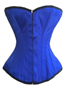Classic Overbust Corset in Royal Blue Satin
