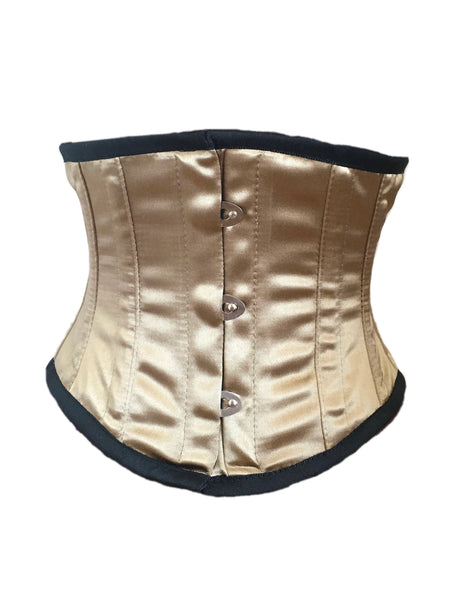Waspie Cincher Corset in Gold Satin