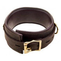 Pleasure Bound Nubuck Leather and Gold Wide Collar - She Said Boutique