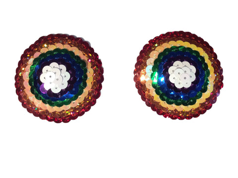 Round Sequin Rainbow Nipple Pasties