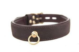 Leather and Gold O Ring Collar - She Said Boutique