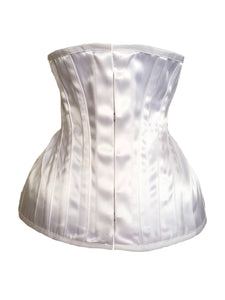 Bridal Extreme Underbust Corset in White Satin
