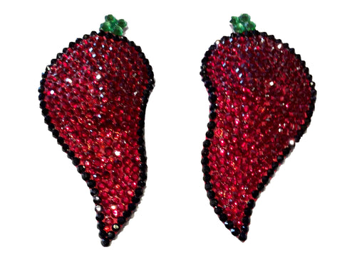 Chili Peppers Crystal Nipple Pasties