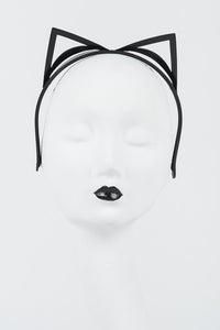 Jet Kitten Headband by Fräulein Kink - She Said Boutique - 3
