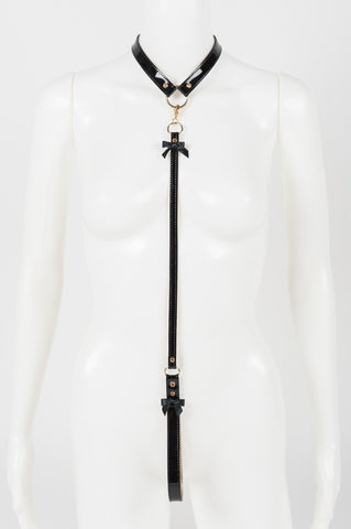 Noir Jet Leather Lead & Collar -  by Fräulein Kink - She Said Boutique - 2