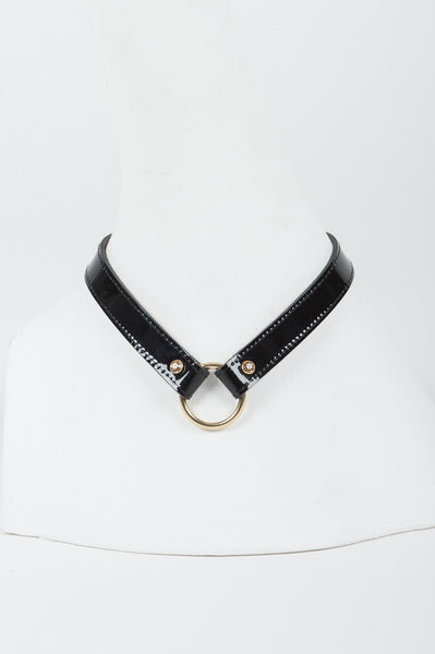 Noir Jet Leather Lead & Collar -  by Fräulein Kink - She Said Boutique - 4