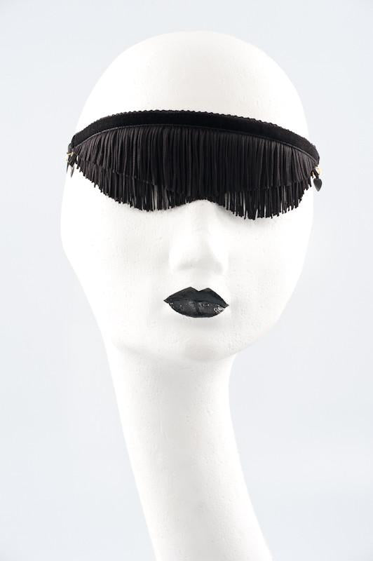 Fraulein Kink Fringed Blindfold (Red / Black)