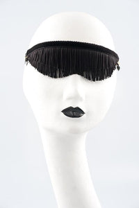 Fringed Blindfold (Red / Black) by Fräulein Kink