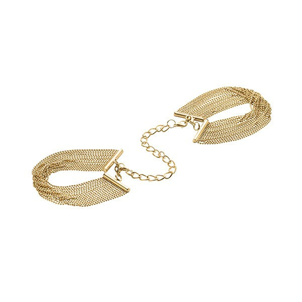 Bijoux Metallic Chain Bracelet Cuffs Gold