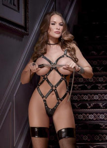 Studded Ouvert Cadged Harness Teddy