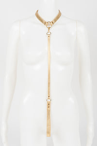 Gold Champagne Lead & Collar -  by Fräulein Kink - She Said Boutique - 1