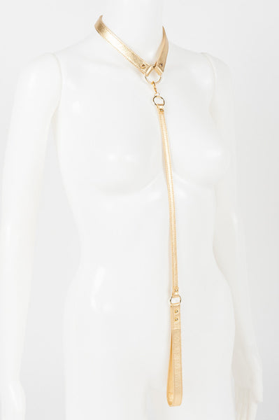 Gold Champagne Lead & Collar -  by Fräulein Kink - She Said Boutique - 3