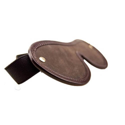 Nubuck Brown Leather Blindfold