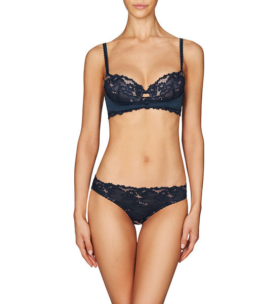 Jemima Lace and Satin Cheeky Brief (XS)