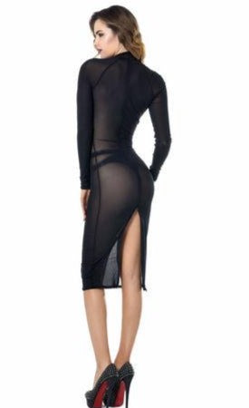Azia Mesh Bodycon Pencil Dress