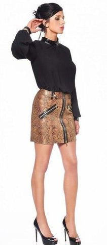 Ivanka Anna Mini Skirt in Snake