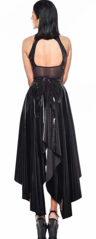 O High Shine Full Vinyl Skirt