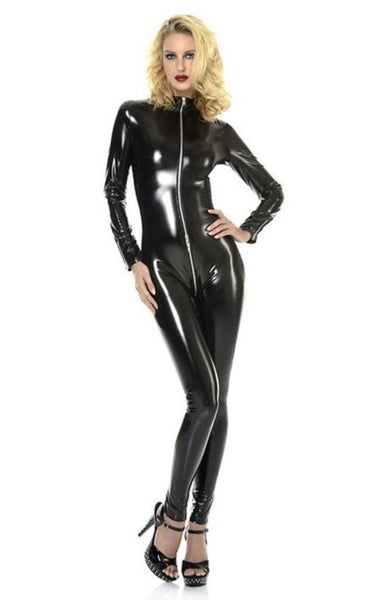 Sweety Vinyl Catsuit - Red