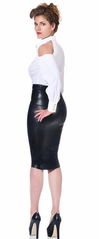 Ornella Pencil Skirt in PVC