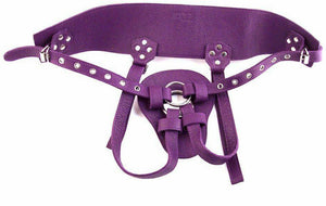 Leather Strap on Purple