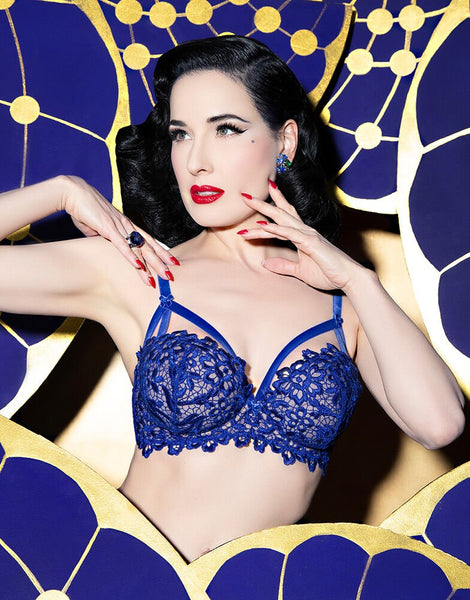 Bold Lace Daliah String Electric Blue (Last sizes!)