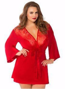 Red Silky Robe - Queen