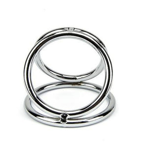 Caged Up - Triple Metal Cock Ring