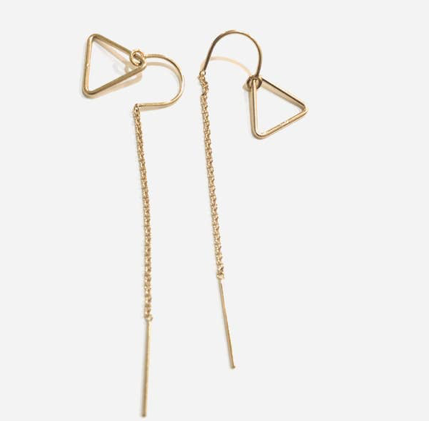 TRIANGLE THEADER EARRINGS