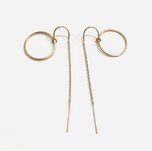 Load image into Gallery viewer, CIRCLE THREADER EARRINGS