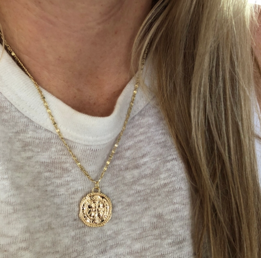 CROSS COIN NECKLACE