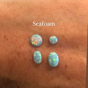 4MM OPAL  STUD EARRINGS