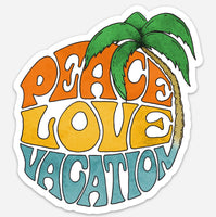 """Peace Love Vacations""  Collectible Sticker"