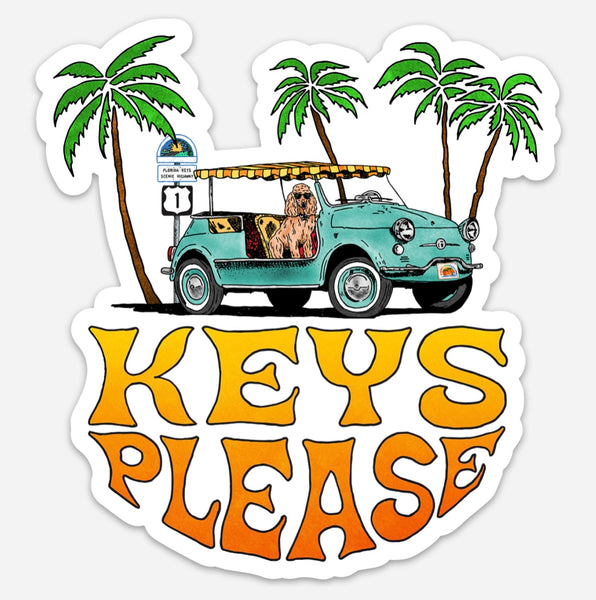 """Keys Please""Collectible Sticker"