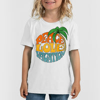"""Peace Love Vacation"" Child's Crew-Neck Tee"