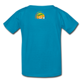 Kids' T-Shirt Lucky Fishing Shirt - turquoise