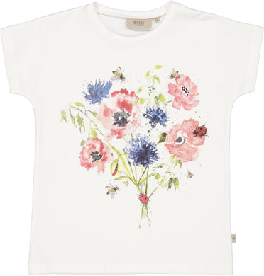 T-Shirt Watercolor Flowers - Little moon