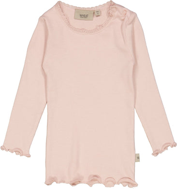Rib T-Shirt Lace LS - Little moon