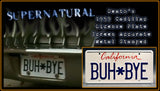 "Supernatural ""Death"" License Plate"