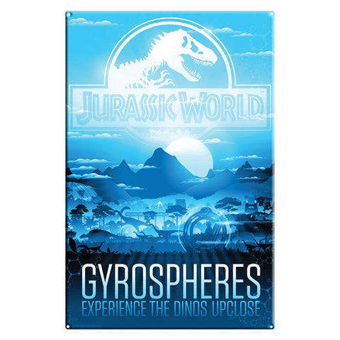 Jurassic World Gyrosphere Metal Sign