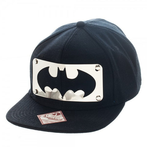 Batman Cut Metal Logo Black Snapback