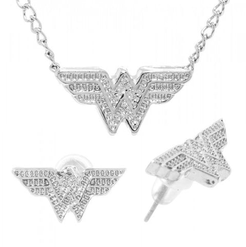 DC Comics Wonder Woman Caviar Necklace and Earring Set