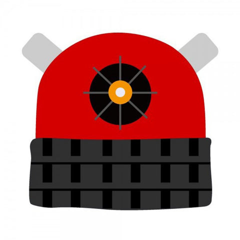 Doctor Who Red Dalek Cuffed Beanie