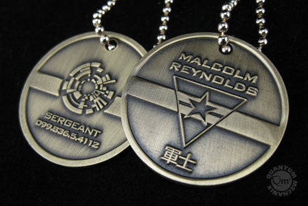 Firefly Malcolm Reynolds Dog Tags