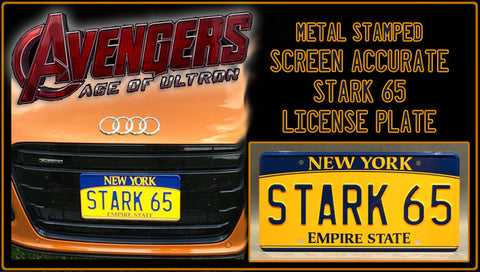 Age of Ultron STARK License Plate
