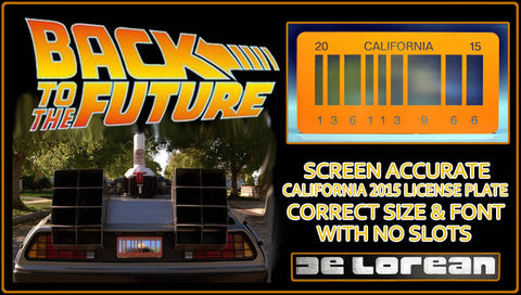 "Back To The Future ""Future"" License Plate"