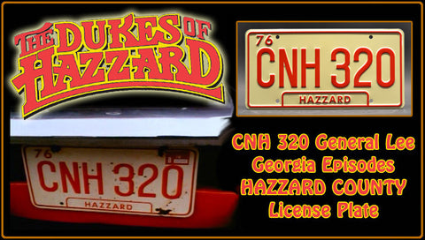 Dukes of Hazzard General Lee License Plate