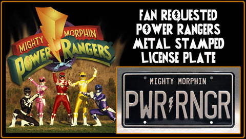 Power Rangers License Plate