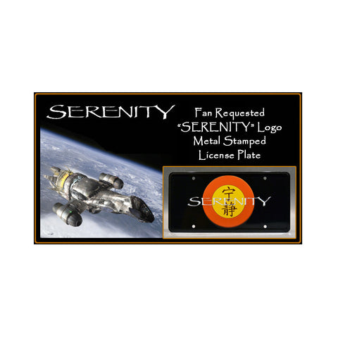 Serenity Firefly License Plate