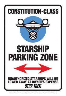 Star Trek Ship Parking Sign