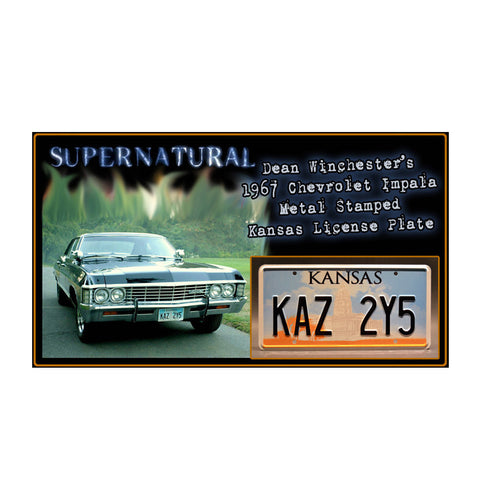 Supernatural Winchester License Plate